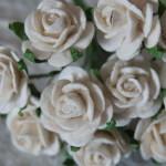 Ivory 15mm Roses