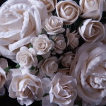 Ivory and White mixed roses