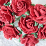 Dark Red 15mm roses