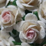Ivory and Pale Pink 15mm roses