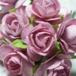 vintage pink 15mm roses