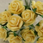 yellow 15mm roses