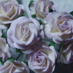 Lilac and White 15mm roses