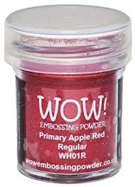 Primary Apple Red Super Fine WOW Embossing Powder