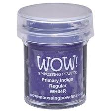 Primary Indigo Super Fine WOW Embossing Powder