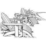 adirondack pair cling stamp from stampendous