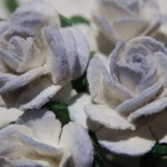 Blue and White 15mm roses