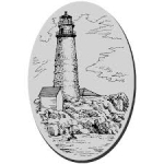 boston lighthouse cling stamp from stampendous