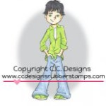 chris rubber stamp by Robertos Rascals from CC Designs
