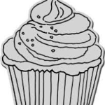 cupcake xl cling stamp from stampendous