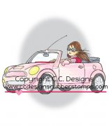 erica's car rubber stamp by Robertos Rascals from CC Designs