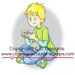 gaming boy chris rubber stamp by Robertos Rascals from CC Designs