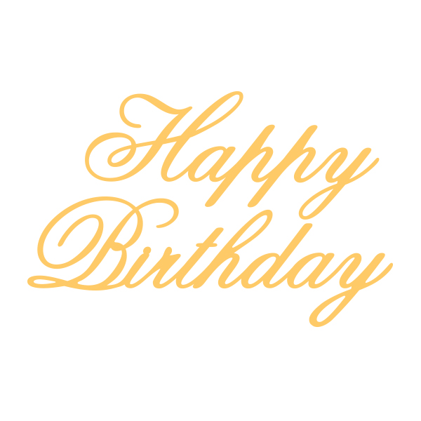 Happy Birthday Die From Couture Creations