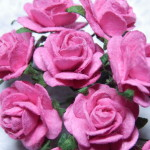 Hot Pink 15mm roses