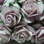 Lilac 15 mm roses
