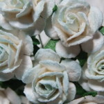 pale blue and white 15mm roses