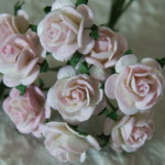 Pale Pink and White 15 mm roses
