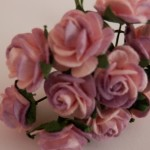 pink and mauve 15mm roses
