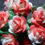 Red and White 15mm roses