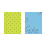 song birds and lattice set from Sizzix