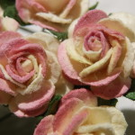 vintage Pink and Ivory 15mm Roses