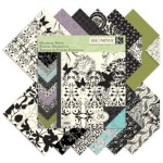 Black and Ivory Fusion 12x12 paper pad from K and CoMPANY