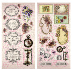 Hearts Ease chipboard Stickers from Couture Creations