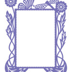 Hearts Ease Frame A2 Embossing Folder from Courure Creations
