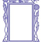 Hearts Ease Frame Embossing Folder from Courure Creations