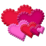 Classic Scalloped Heart Nestabilities die set from Spellbinders