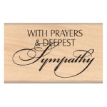 Deepest Sympathy Rubber Stamp from My Sentiments Exactly