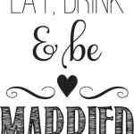 Eat Drink and Be Married Rubber Stamp from Hampton Art