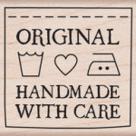 Handmade with care mounted stamp from Hero Arts