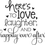 Happily Ever After rubber stamp from Hampton Art