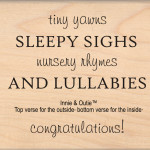 Lullabies mounted stamp from My Sentiments Exactly