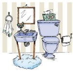 bathroom rubber stamp from art impressions
