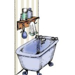 bathroom wall rubber stamp from art impressions