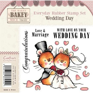 wedding day rubber stamp by Makey Bakey Mice from Crafters Companion