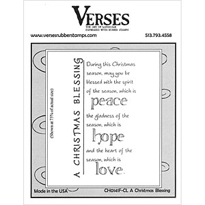 A Christmas Blessing rubber stamp from Verses Rubber Stamps
