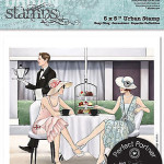 Afternoon Tea Art Deco Urban Stamp from DoCraft Papermania