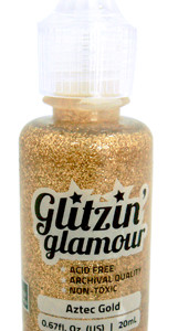 Aztec Gold Glitzin Glamour glitter glue from Couture Creations