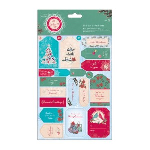 Belissima Christmas Die Cut Sentiments from DoCraft Papermania