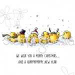 Caroling Chicks Rubber Stamp from Stamping Bella