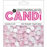 Chantily Champagne candi dot embellishment from craftworkcards