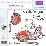 Chocolate Box rubber stamp from Crafters Companion
