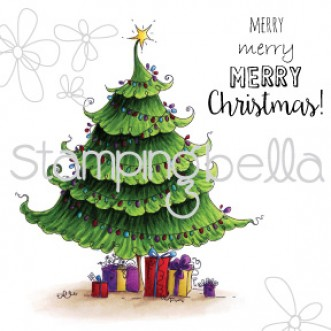 Christma Tree Rubber Stamp from Stamping Bella