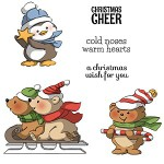 Christmas Cheer rubber stamp set from Art Impressions