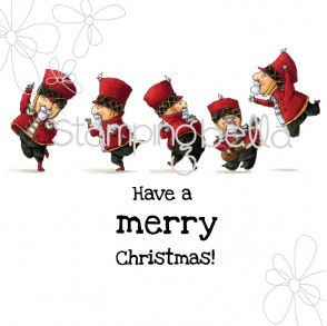 Christmas Soldiers Rubber Stamp from Stamping Bella