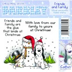 Friends and Family rubber stamp from Crafters Companion