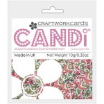 Happy Holidays candi dot embellishment from craftworkcards